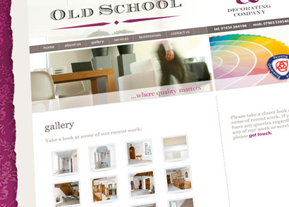 Old School, The Painting & Decorating Company website
