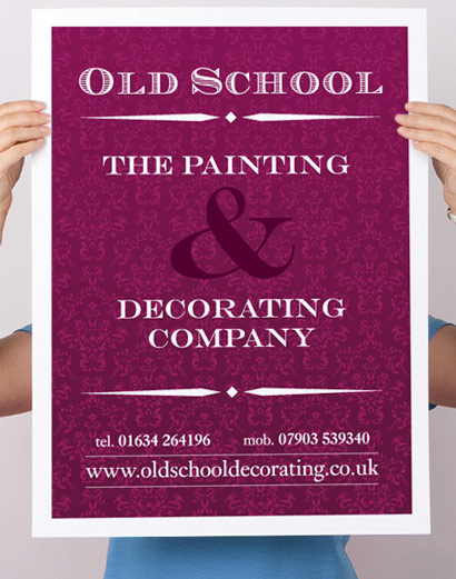 Old School, The Painting & Decorating Company poster.